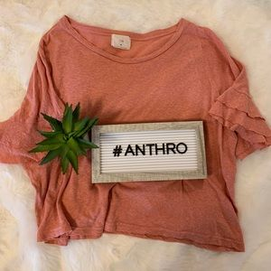 Anthropologie Coral Tee